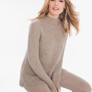 NWT Chico's Tonal Shine Pullover Tunic Sweater M
